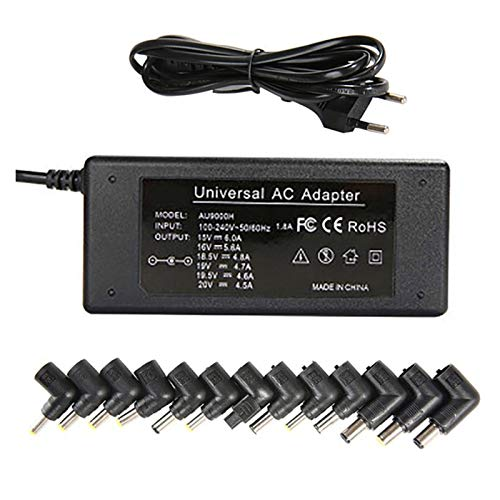 90W Universal Laptop Charger AC Adapter 18.5V 19V 19.5V 20V Power Supply Replacement for HP Lenovo Dell Asus Acer Toshiba Sony Samsung Fujitsu Automatic Voltage(13 Connectors) ( Size : Jp )
