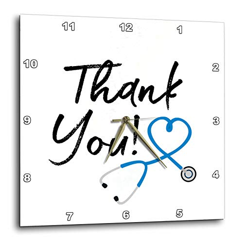 3dRose Nurse - Doctor Thank You - Wall Clocks (DPP_335162_3)