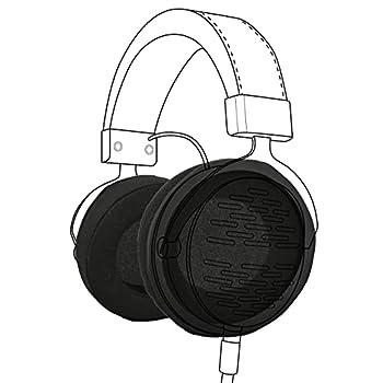 Earpadz Replacement for Beyerdynamic DT990 DT770 Custom One Pro AKG K240 Ear Pads Soft Knit Headphone Cushions  Jerzee Black 1 Pair