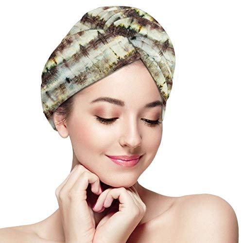 GYTHJ Cheveux Tête Serviette Wrap Turban Microfibre Séchage Bain Douche Mignon Ours Loup Castor Têtes Décoration Sèche Magique Rapide, Cheveux Secs Chapeau pour Femmes