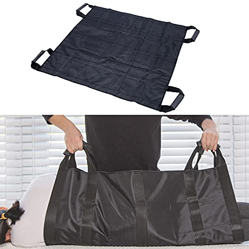 OUDI LINE Bed Positioning Pad and Straps-Reusable & Washable Patient Lifting Device for Body Turning, Sliding, Moving-Transfer Blanket with Sponge Handles for Caregiver, Family Aid, Bedridden, Elderly