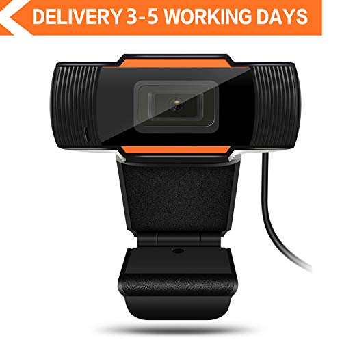 Webcam 1080P Auto Focus Full HD Widescreen Web Camera with Microphone USB Computer Camera for Laptop Desktop PC Mac Video Calling Recording Streaming Online Teaching Business Video Conference Gaming