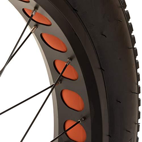 Galano Laufrad 26 Zoll Fahrrad Fatbike Mountainbike einzeln/Set vorne + hinten MTB Mittelsteg (orange, hinten)