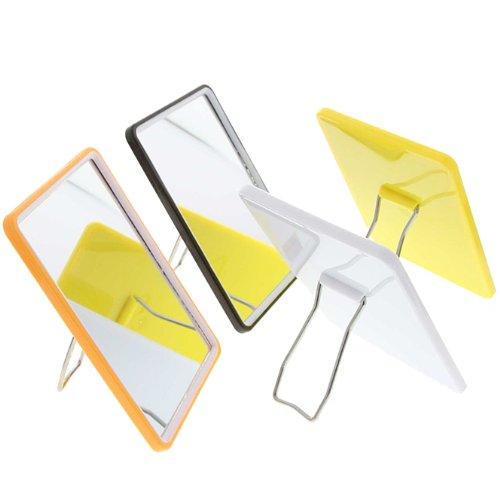 Eckiger kleiner Stellspiegel, Kosmetex Spiegel zum Stellen oder Hängen, verschiedene Farben, Weiß