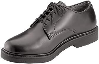 Rothco Soft Sole Uniform Oxford/Leather Shoe, Black, 10.5