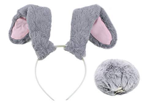 DAZCOS Bunny Judy Hopps Cosplay Costume Full Accessories (Ears+Tail) Grey