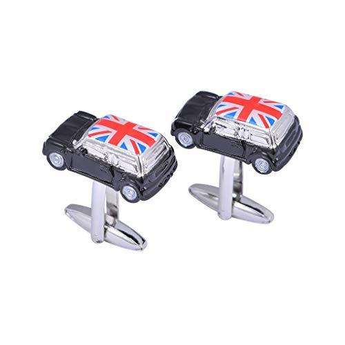 Delicate girl Schwarzer Reis Flagge Flagge Britische Flagge Mini Auto Manschettenknöpfe Hochwertige Französische Hülse Nägel