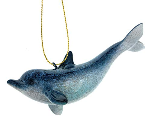 Globe Imports Blue Dolphin Christmas Ornament 4 Inches Long