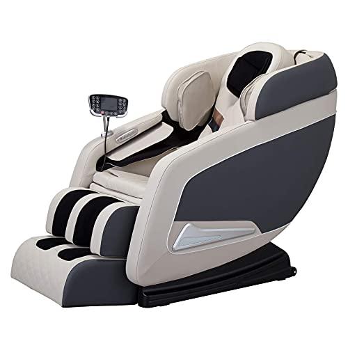 2021 Krzesło do masażu, pełne ciało zero Gravity Shiatsu fotel do masażu z bluetooth i siedzenia masaż rolkowy, ciało