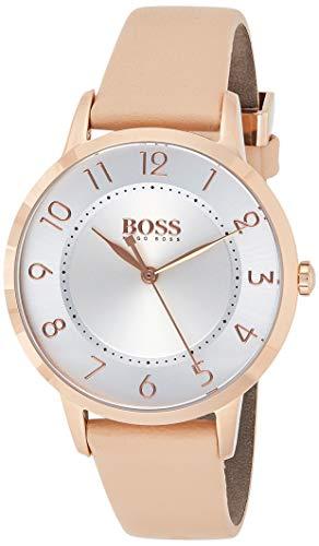 Hugo Boss Damen Analog Quarz Armbanduhr mit Lederarmband 1502407