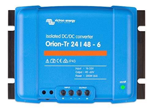 Victron Energy ORI244828110 Orion-TR Isolated DC Converter, De 24 a 48 V-6A (280W)