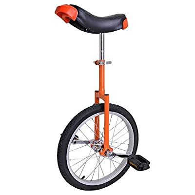 """Jacoble Bright Orange 18 Inch in 18"""" Mountain Bike Wheel Frame Unicycle Cycling Bike with Comfortable Release"""