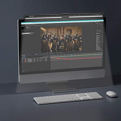 Quntis 22-29 Zoll Computer Monitor Lampe LED USB mit Touch Control, Anti-Blaulicht Anti-Strahlung Bildschirmlampe mit Auto-Dimmen, Schreibtischlampe für PC mit einstellbarer Farbtemperatur Helligkeit