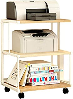 RONGJJ Étagère pour imprimante avec mémoire, Armoire de Rangement pour scanners de Documents de Bureau Étagère de Cuisine ...