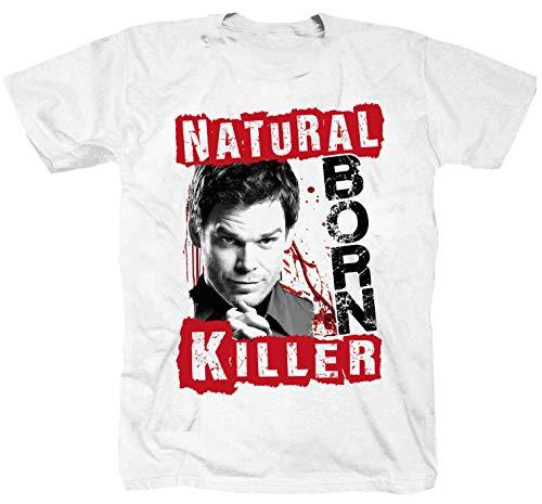 Dexter Police Miami Killer seria policja biały T-shirt