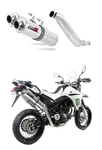 XT 660 R Marmitta Racing Tondo Dominator Exhaust Terminale di Scarico Silenziatore 2004 2005 2006 2007 2008 2009 2010 2011 2012 2013 2014