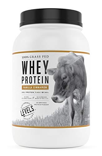 Levels 100% Grass Fed Whey Protein, No GMOs, Vanilla Cinnamon, 2LB