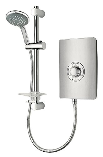 Triton Showers RECOL209BRSTL Collection II Contemporary Electric Shower, Brushed Steel, 9.5 KW