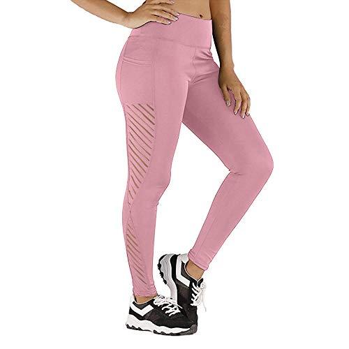 A-HXTM Leggings Sin Costuras De Cintura Alta para Mujer Pantalones Deportivos Fitness Running Yoga Energy-Rose_XL_China