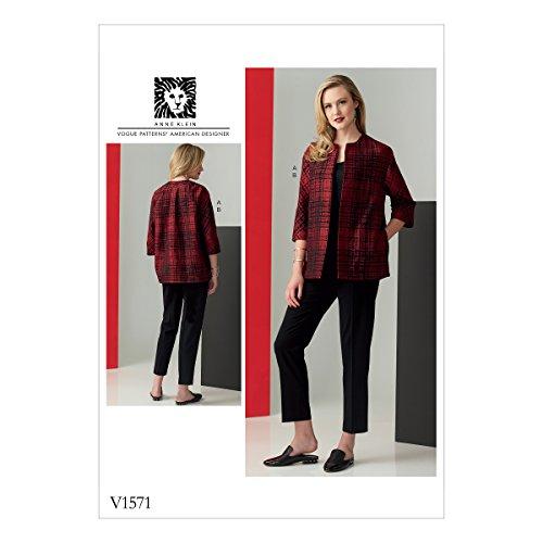Vogue patroon jas en broek, tissue, meerkleurig, 20 x 0,5 x 25 cm