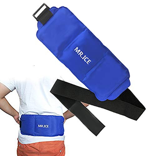 Premium Ice Packs for Injuries, Hot Cold Ice Packs for Waist with Adjustable Strap - Pain Relief Quickly Cold Pack for Back, Knee, Shoulder, Neck, Ankle and Hip