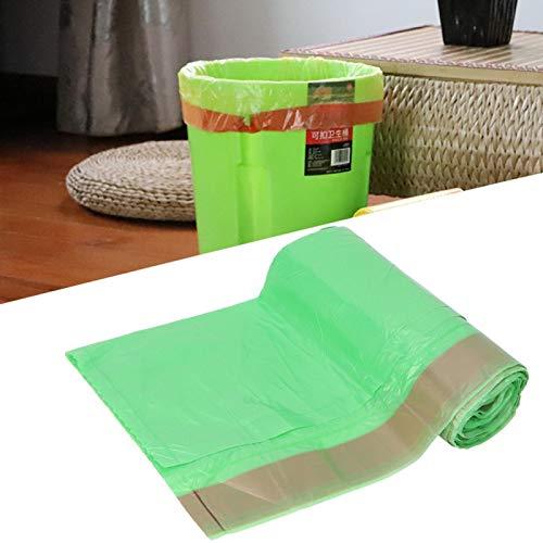 Evite Fugas de 50 * 50 cm con cordón Bolsas de Basura con cordón Cocina de Alta Resistencia Oficina para baño Ecológico Verde
