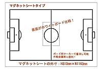 マグネットシート サッカー ホワイトボードタイプ 0.8mm厚×810mm×1160mm トレーニング コーチ 戦略用