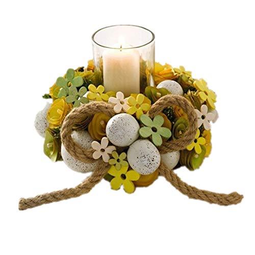 Decdeal Kerzenhalter Glas rund Ornament Tolles Geschenk Ostern DIY Home Festival Hochzeit Dekoration