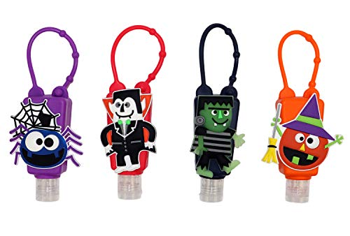 17Tek Lot de 4 flacons vides de voyage approuvés TSA avec support et porte-clés, bouteilles à bouchon rabattable anti-fuite 30 ml
