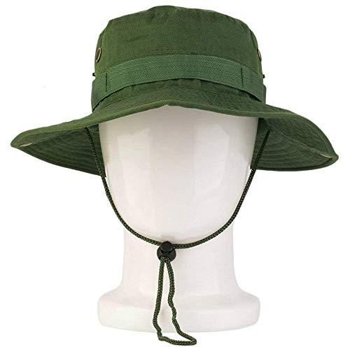 Fliyeong 1 STÜCKE männer 'Casual Fisherman' s Hut Sonnencreme Runde Krempe Beanie Cap für Outdoor Angeln Camping Wandern Armee Grün
