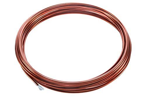 Kupferlackdraht W210 Ø 3,00 mm 3m CU Lackdraht Grad 2 CUL 3 Meter Kupferdraht Durchmesser 3,00 Millimeter Wickeldraht Kupfer Draht nach IEC 60317-13