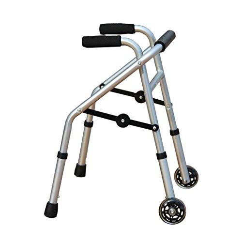 FGVBC Praktische leichte Faltbare 2-Rad-Rollator-Gehhilfe für Kinder mit behinderten Handläufen Krücken, einstellbare Höhe 52-62 cm,