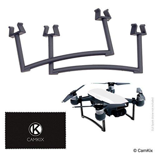 Extensiones para DJI Spark - Juego de engranajes de aterrizaje para la altura y la seguridad adicionales - Da a su Drone más distancia del suelo - Máxima estabilidad - Distancia aumenta en la cámara / Gimbal y superficie - Solido y seguro