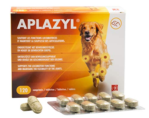 Aplazyl - condroprotector perros - pastillas articulares para perros, ingredientes naturales, desarrolladas por veterinarios, sabrosas y eficientes, 120 pastillas