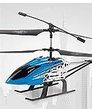 Pkfinrd RC Helicopter 3.5-Canal Recargable RC Aircraft RC con Luces LED, Adecuado para Principiantes, Regalo de avión de Control Remoto de Navidad para niños (Size : 3battery Packs)