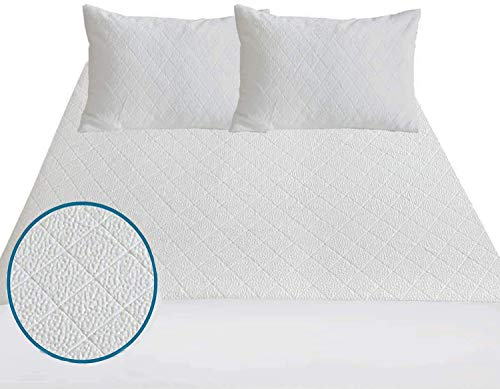 PORTER AND LAMBERT Bamboo Double Bed Mattress Protector Waterproof Anti Allergy Cooling Breathable Fitted Mattress Cover Soft Exclusive Heat Insulation Technology & Skin Friendly (Single)