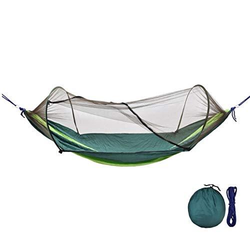 Sièges balançoires Swing camping en plein air hamac avec moustiquaire hamac Swing portable for Camping Randonnée Voyage (bleu) Ensemble de balançoire pour aire de jeux (Color : Dark green)