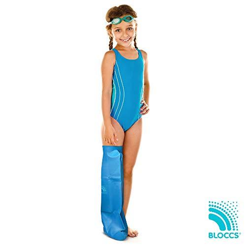 Bloccs Protector de escayola impermeable pierna entera mediano para niño de 4 a 9 años