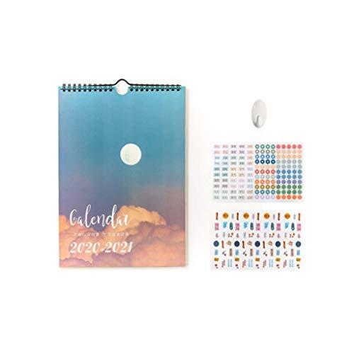ZANZAN Month calendar wall 2021 Calendar - Wall Calendar Jan 2021 -Dec 2021 With Julian Date Decoration Monthly Calendar Gift To Friends 11.6x8.2in calendar gifts (Color : D)