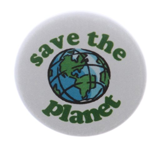 A&T Designs - Save the Planet 1.25' Pinback Button Pin Earth Love Peace Hippie