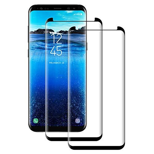 Aspiree Cristal Templado Samsung Galaxy S9 Plus,[2-Unidades] Protector de Pantalla para Samsung Galaxy S9 Plus[Alta Definicion, 9H Dureza, Resistente a Arañazos]