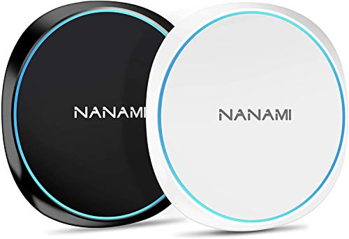 NANAMI Wireless Charger Ladepad, [2-Pack] Qi Induktive Ladestation für iPhone 12 pro 12 11 XS Max XR X 8 Plus, Schnelles Kabelloses Ladegerät für Samsung Galaxy S21 S20 S10 S9 S8+ S7 Note 20, Airpods