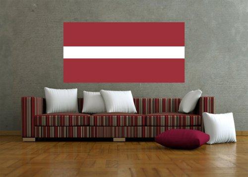 Kiwistar Wandtattoo Sticker Fahne Flagge Aufkleber Lettland 120 x 60cm