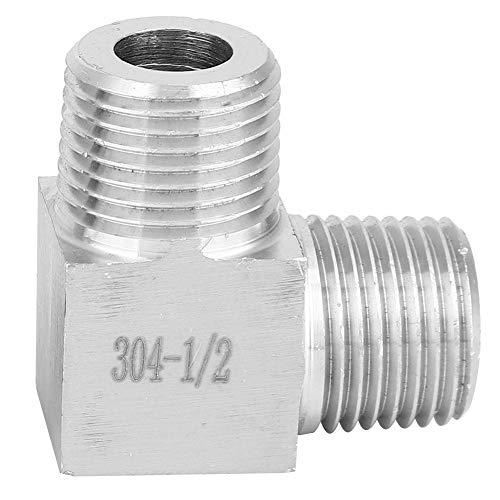 BSPT macho a macho de 90 grados, resistente a la corrosión BSPT de 90 grados de conexión de codo, 90 grados de conexión de tubería, aceite para calentamiento de agua a gas(1/2)