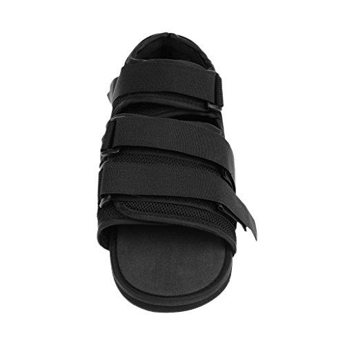MagiDeal OrthoWedge Leicht Vorfußentlastungsschuh Entlastungs Orthopädische Schuh - Schwarz, S