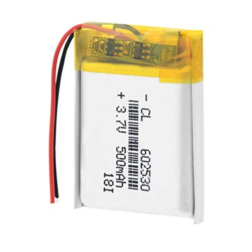 HTRN 3.7v 500mah 602530 Batería De PolíMero De Iones De Litio, Recargable para Mp4 Mp5 GPS PSP Reloj Inteligente Grabadora De Conducción Batería De Litio 1piece