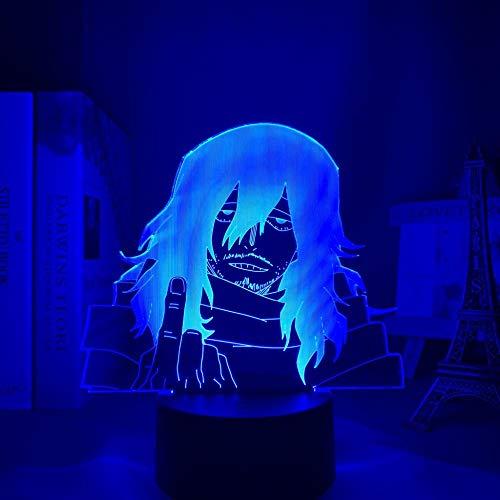 Luz nocturna 3D Anime 3D Lámpara Shota Aizawa My Hero Academia para Dormitorio Decoración Regalo de Cumpleaños Manga Gadget Mi Héroe Academia Aizawa Luz ZGLQ