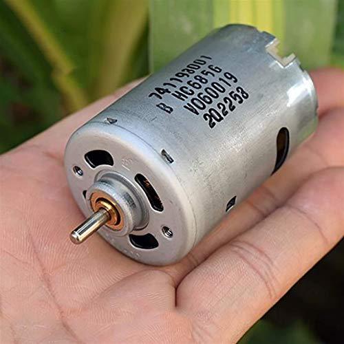RUXMY Controlador de Motor Motor de CC Potente Herramienta eléctrica de Alta Velocidad Motor 545 de CC, con Cepillo de Metal Precioso, para aspiradora, CC12-24V 14800-30000rpm, Fácil de Instalar