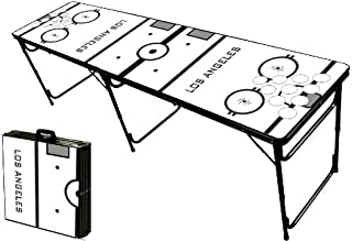 8-Foot Professional Beer Pong Table w/Optional Cup Holes - Los Angeles Hockey Rink Graphic