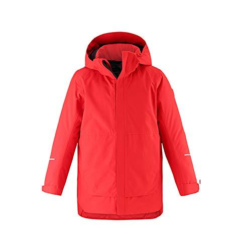 TWW Skianzüge für ältere Kinder für Jungen und Mädchen, Wasserabweisende und umweltfreundliche Winddichte Winterjacken, warme Baumwollkleidung für Kinder,Red 160